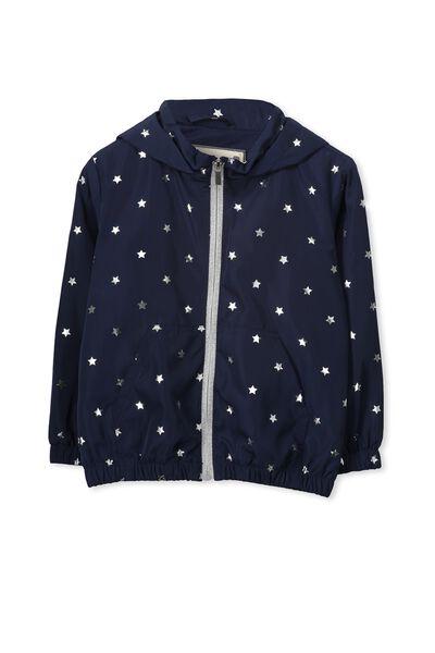 Bonnie Jacket, PEACOAT/SILVER FOIL STAR