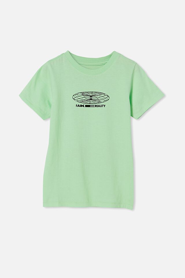 Max Short Sleeve Tee, WASHED SPEARMINT/SMILE VIRTUAL REALITY