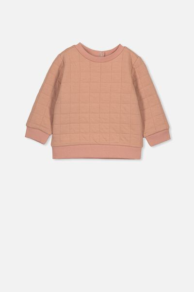 Scout Quilted Sweater, CAMEO BROWN