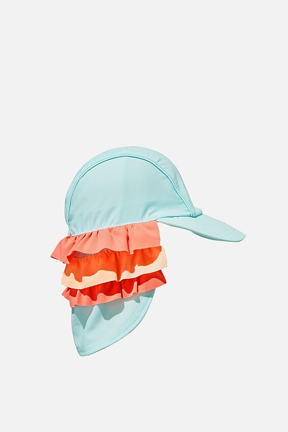 Swim Hat, DREAM BLUE RUFFLE