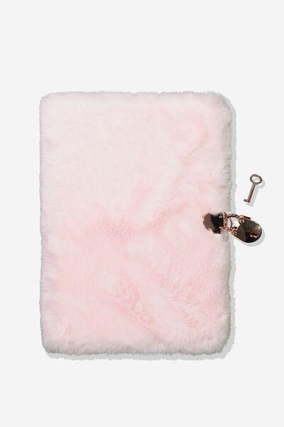 A5 Secret Notebook, PINK PLUSH