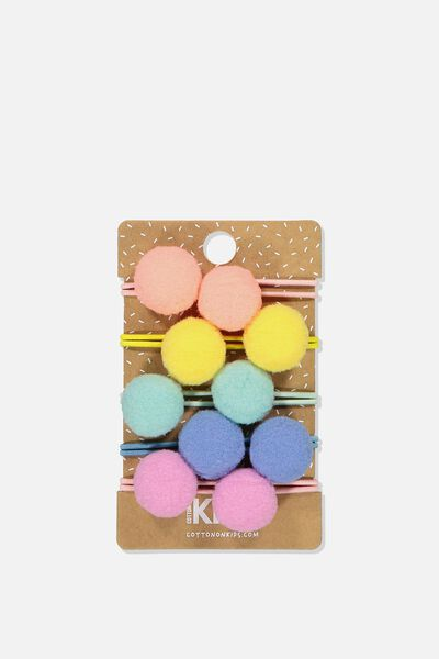Knot Messy Hairties, BRIGHT POM POM