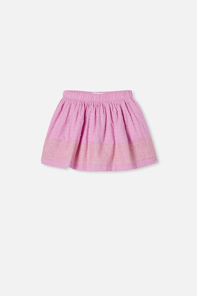 Sully Skirt, PURPLE PARADISE/EMBROIDERY