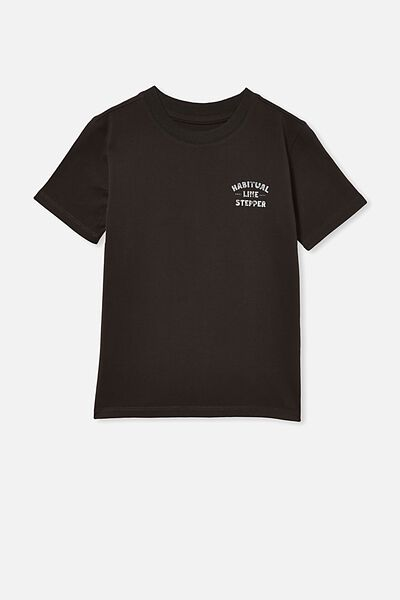 Max Skater Short Sleeve Tee, PHANTOM/HABITUAL LINE STEPPER