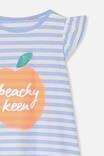 Katie Flutter Sleeve Nightie, PEACHY KEEN