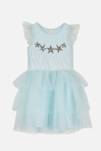 Iris Tulle Dress, FLOSS BLUE/STARS