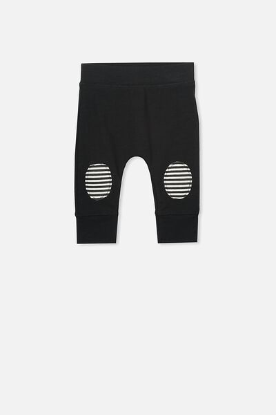 Mini Legging, BLACK/STRIPED KNEES