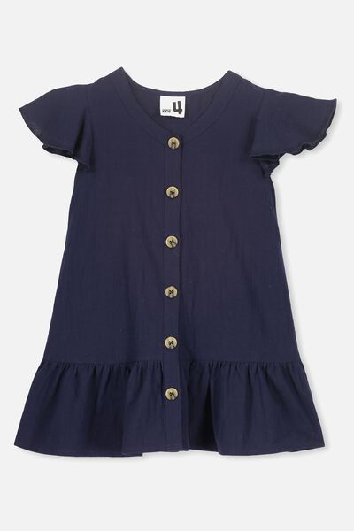 Lola Short Sleeve Dress, PEACOAT