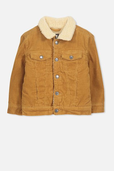 Jaime Cord Sherpa Jacket, BURNT BISCUIT