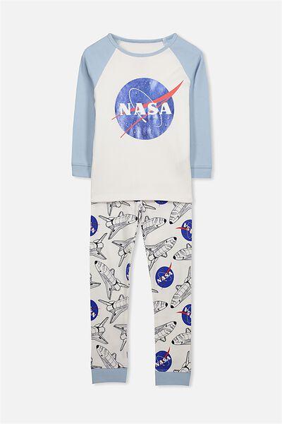 Jacob Boys Long Sleeve Raglan Pyjama Set, NASA