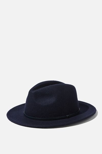 Wide Brim Hat, NAVY