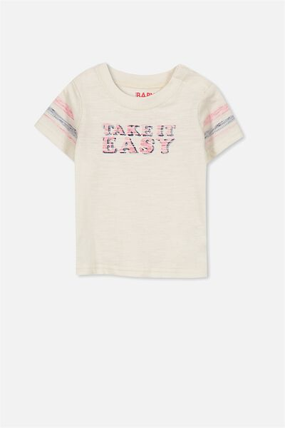 Freddie Ss Tee, DARK VANILLA/TAKE IT EASY