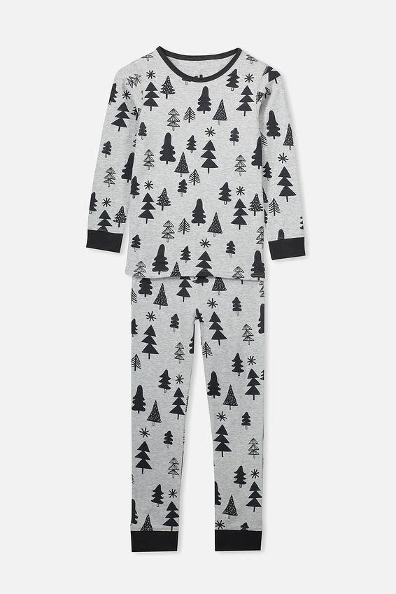 Kids Christmas Unisex PJ Set, XMAS MODERN TREE