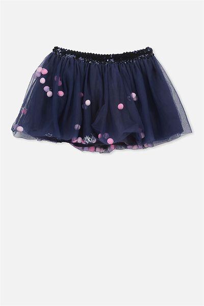 Trixiebelle Tulle Skirt, PEACOAT/POM POM & STARS