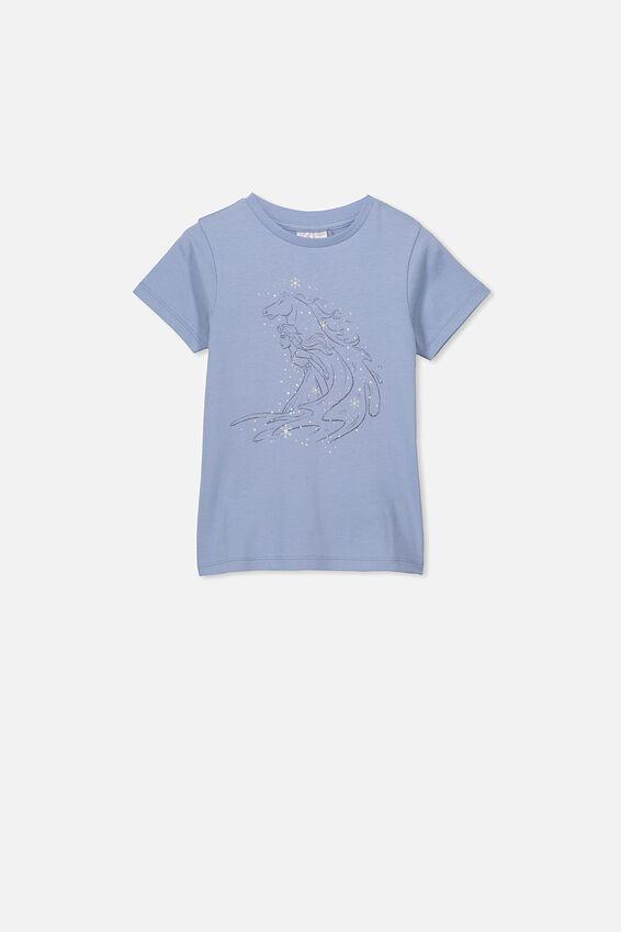 Lux Short Sleeve Tee, LCN DIS DUSTY BLUE/FROZEN WATERHORSE/MAX
