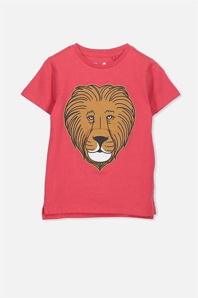 Max Short Sleeve Tee, WEAK RED LION ROAR/SIS