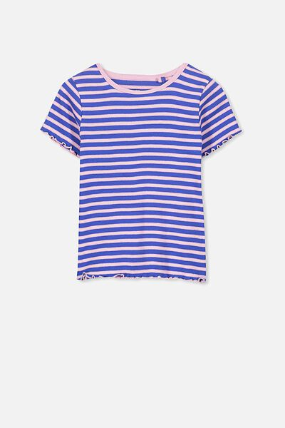 Billie Short Sleeve Tee, FRENCH BLUE STRIPE