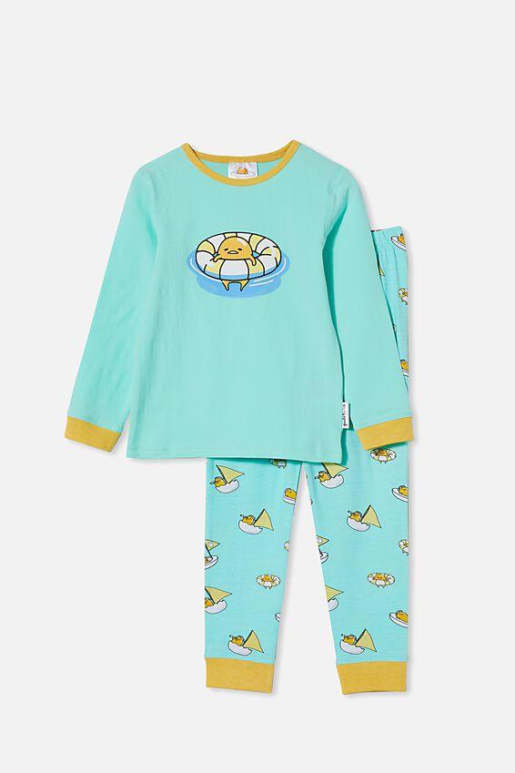 Orlando Long Sleeve Pyjama Set Licensed, LCN SAN GUDETAMA/MINT BREEZE