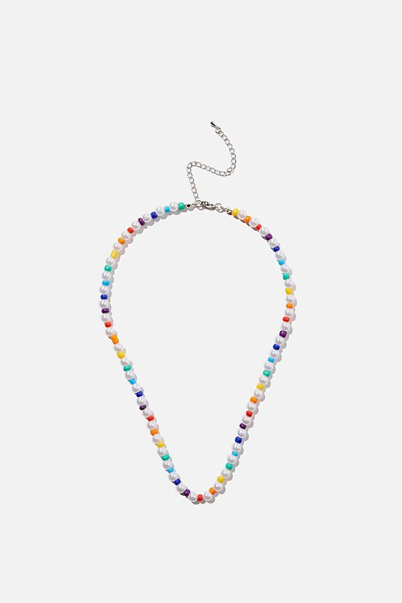 Kids Fashion Jewellery Necklace, RAINBOW PEARLY