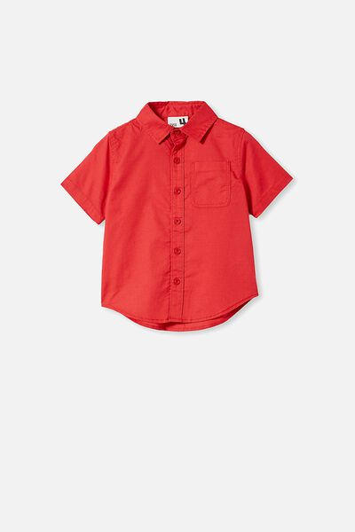 Resort Short Sleeve Shirt, LUCKY RED
