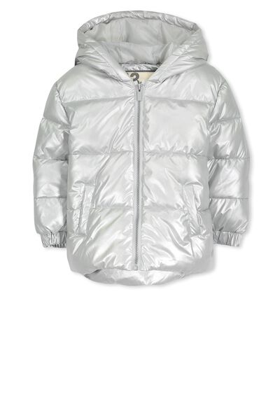 Polly Puffer Jacket, METALLIC SILVER