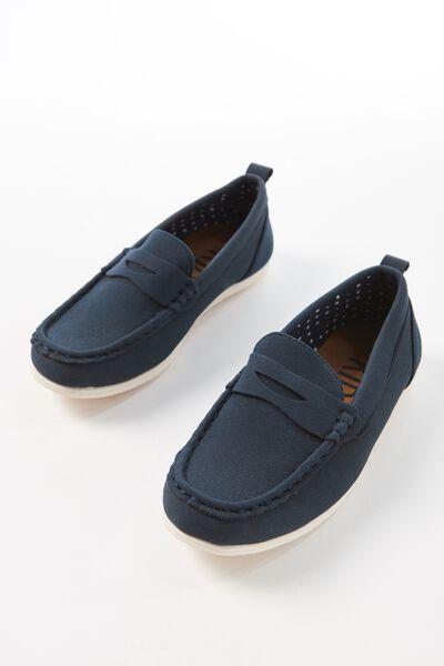 Billy Boat Shoe, NAVY BLUE