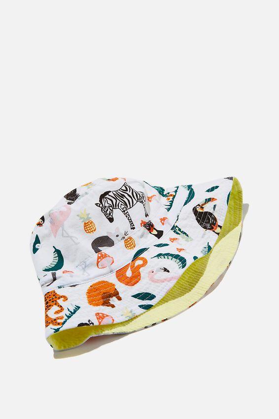Kip&Co Reversible Bucket Hat, LCN KIP IN THE JUNGLE