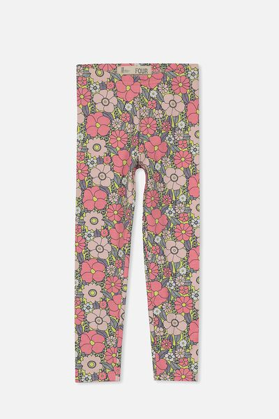 Huggie Tights, CITRONELLA/VINE LEAF FLORAL