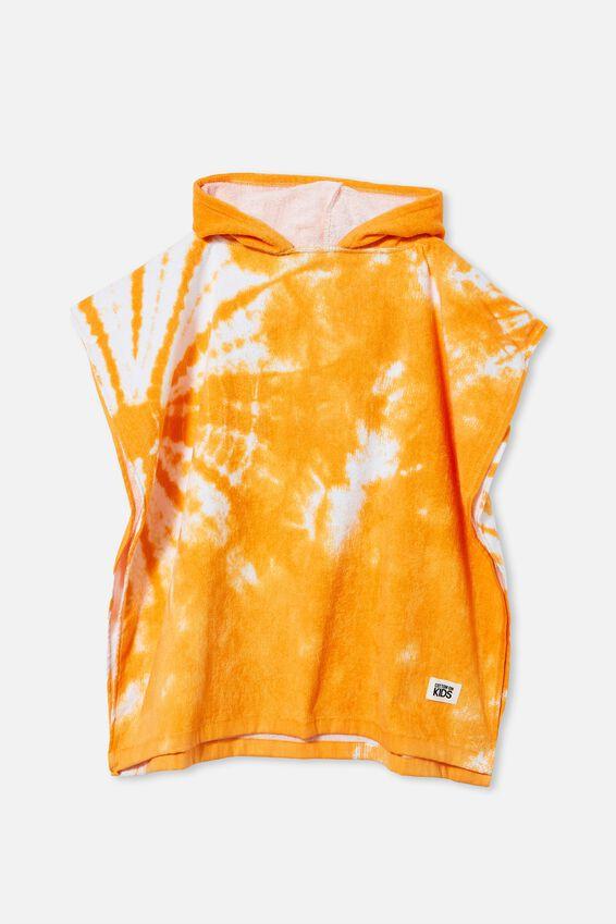 Kids Hooded Towel, MELON POP TIE DYE