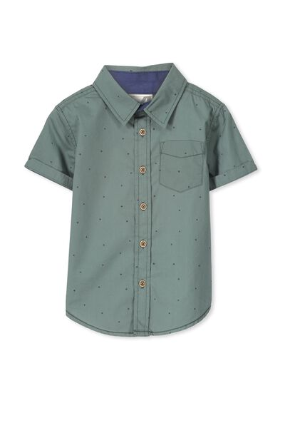 Jackson S/Slv Shirt, DARK FOREST/STARS