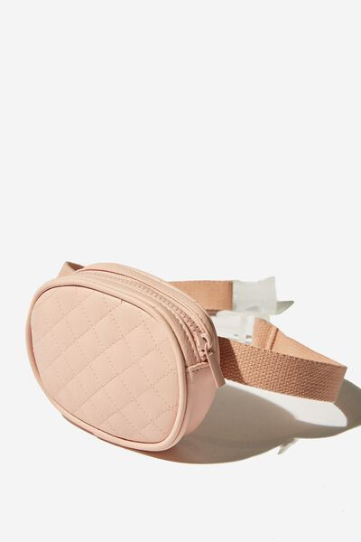 Fashion Belt Bag, PINK QUILTED
