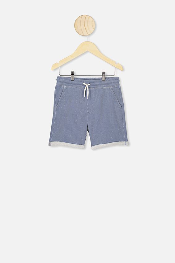 Henry Slouch Short, TEXTURED STRIPE PETTY BLUE
