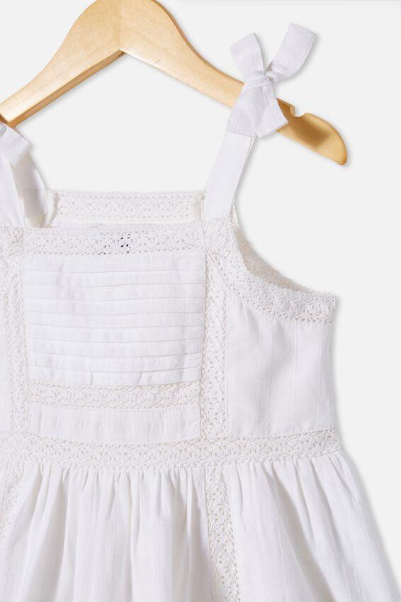 Amelia Sleeveless Dress, WHITE