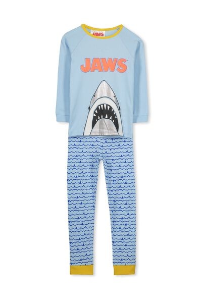 Jacob Boys Long Sleeve Raglan Pyjama Set, JAWS