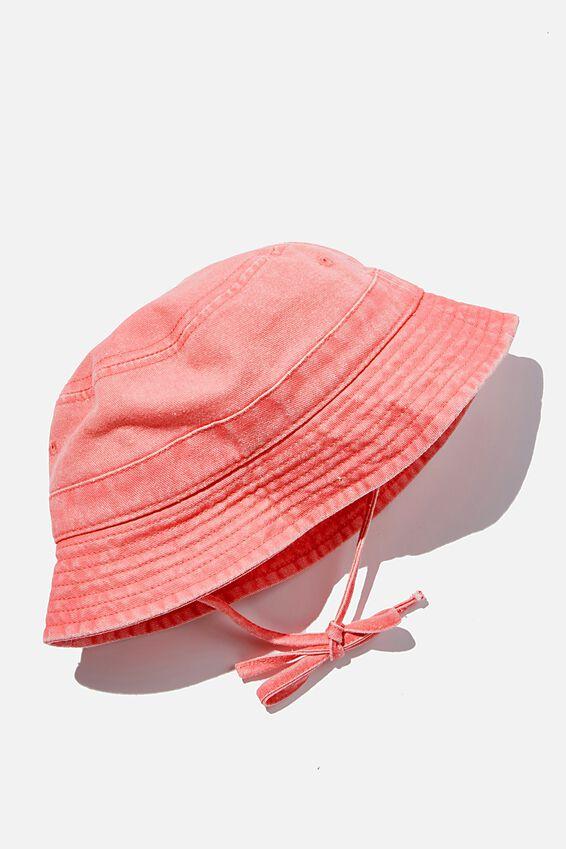 Baby Bucket Hat, RETRO CORAL