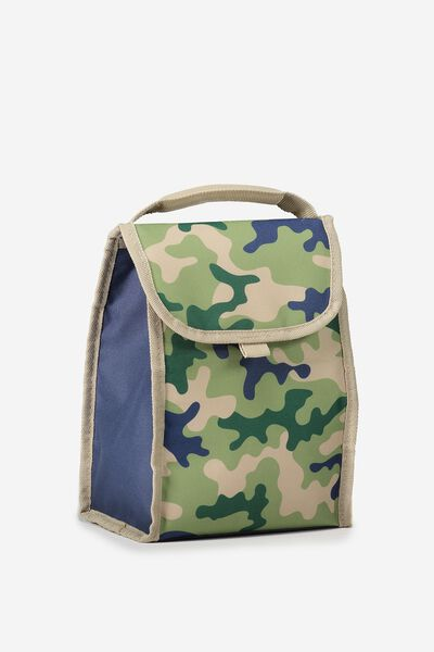 Kids Foldable Lunchbag, GREEN CAMO
