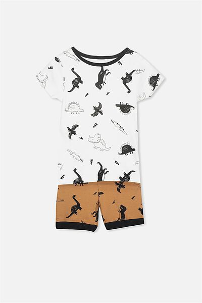 Joshua Short Sleeve Pyjama Set, DINO DINNER