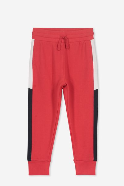 Leo Trackpant, SOPHIE RED/SIDE SPLICE