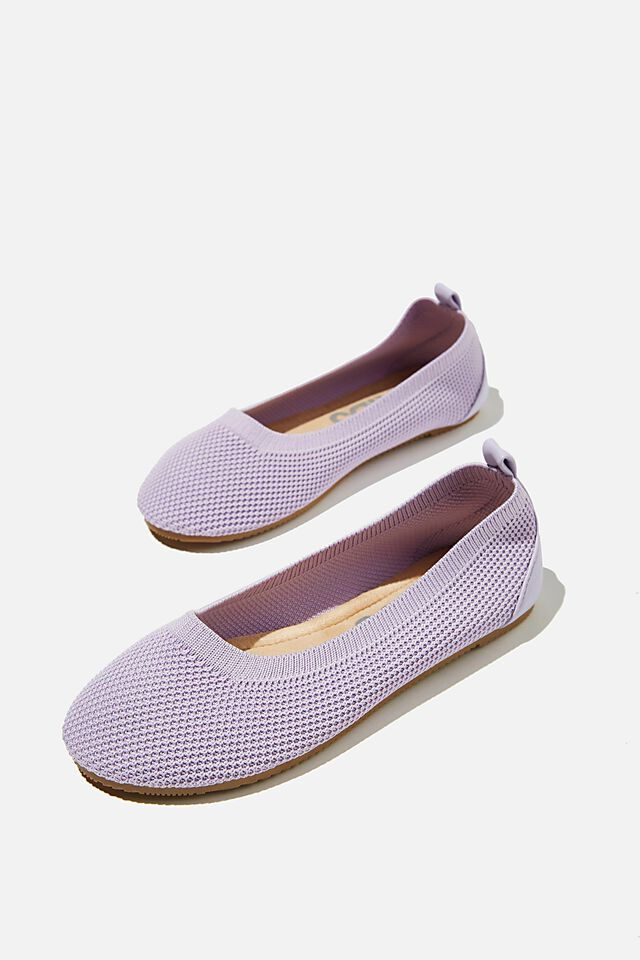 Knitted Ballet Flat, VINTAGE LILAC