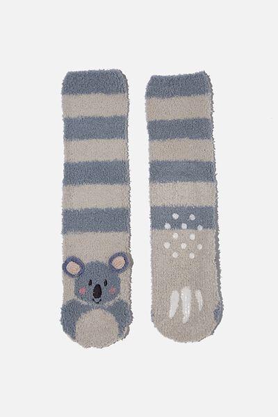 Slipper Sock, GREY KOALA