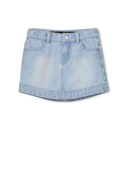 Frankie Denim Skirt, BLEACH WASH