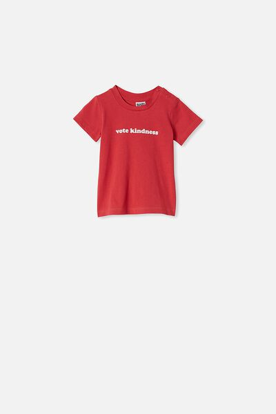 Jamie Short Sleeve Tee, LUCKY RED VOTE KNIDNESS