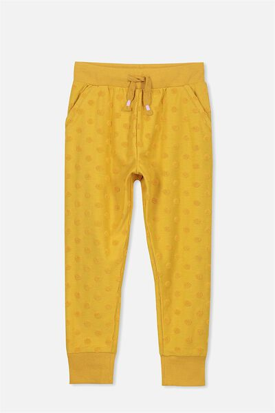 Kallie Trackpant, MINERAL YELLOW/SPOTS