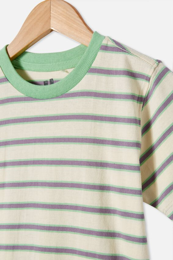 Max Skater Short Sleeve Tee, DARK VANILLA / SPEARMINT STRIPE