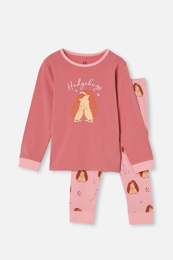 Florence Long Sleeve Pyjama Set, HEDGEHUGS VERY BERRY
