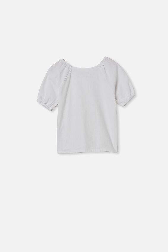 Frankie Short Sleeve Top, WHITE