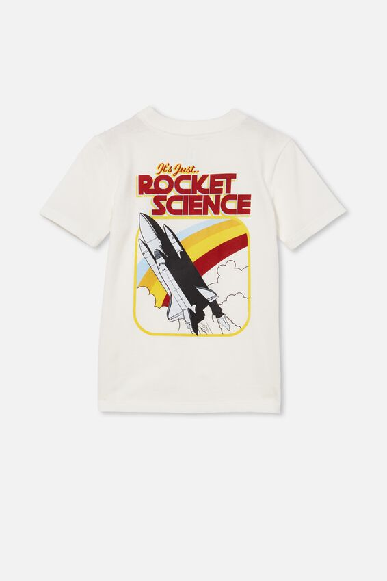 Downtown Short Sleeve Tee, RETRO WHITE / REFLECTIVE UV ROCKET SCIENCE