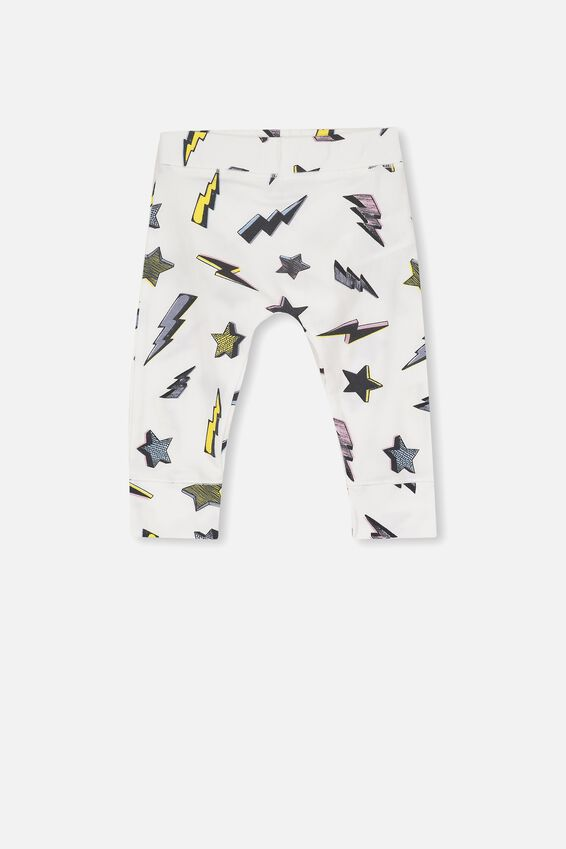 Mini Legging, VANILLA/STARS AND BOLTS