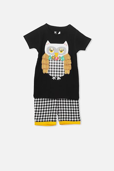 Chloe Girls Short Sleeve PJ Set, PRISCILLA THE OWL