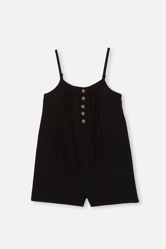 Maia Playsuit, BLACK
